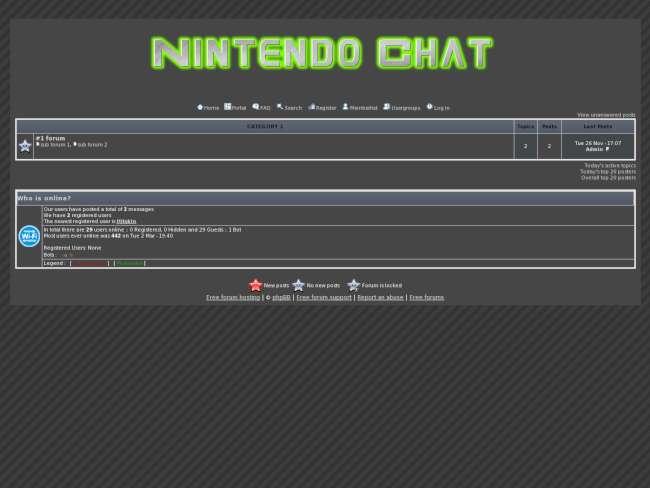 Nintendo chat skin