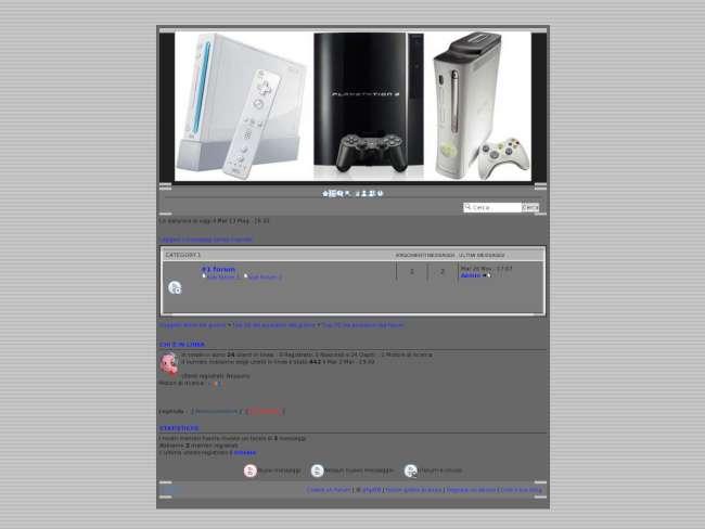 Grey console
