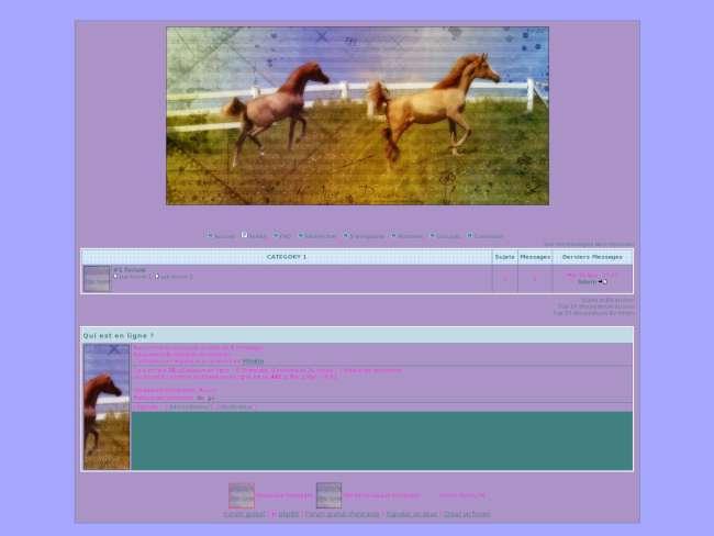 Violet cheval