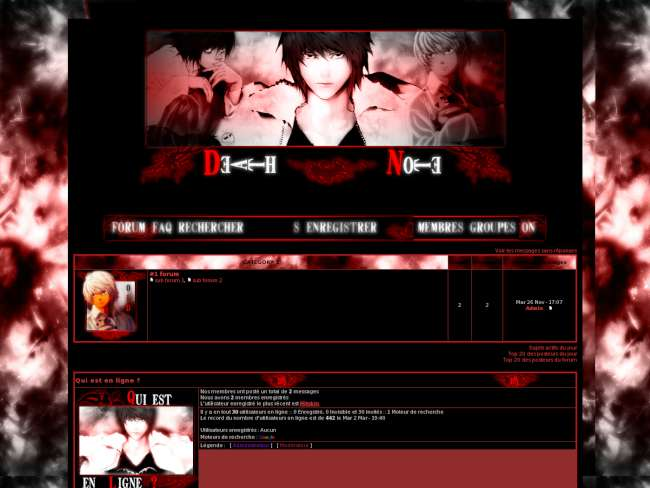 Death note deep red