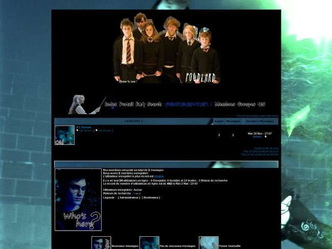 Harry Potter blue