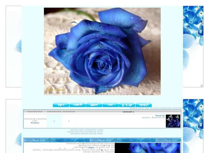 وردة زرقاء