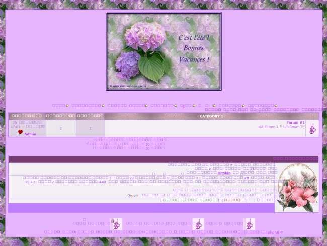 ستايل زهور بنفسجية phpBB2