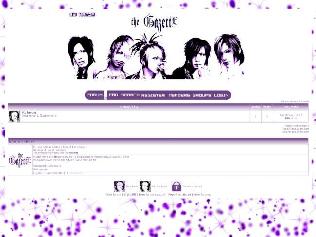 Gazette purple