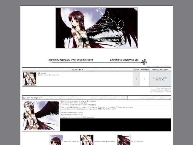 Manga ange noir et blanc
