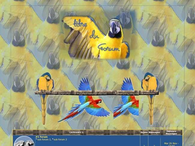 Le perroquet bleu