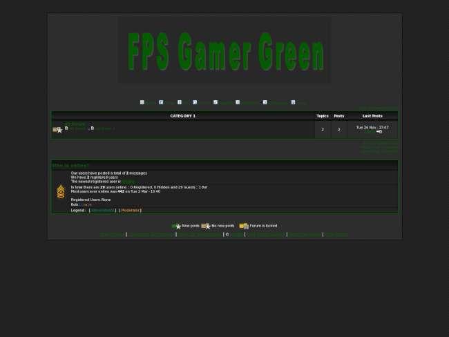 FPS Gamer Green