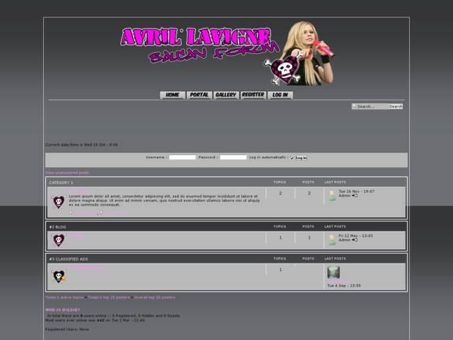 Avril Lavigne skin 2