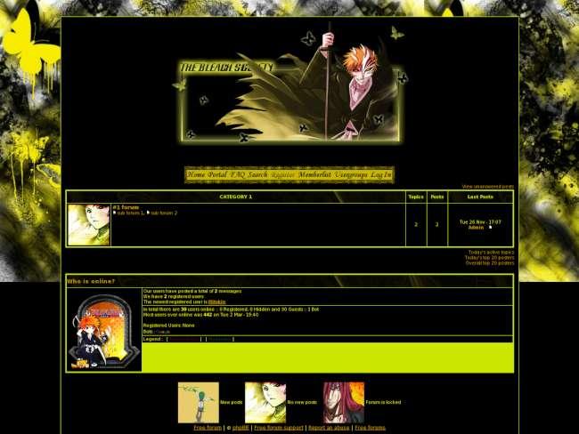 Bleach society yellow ...