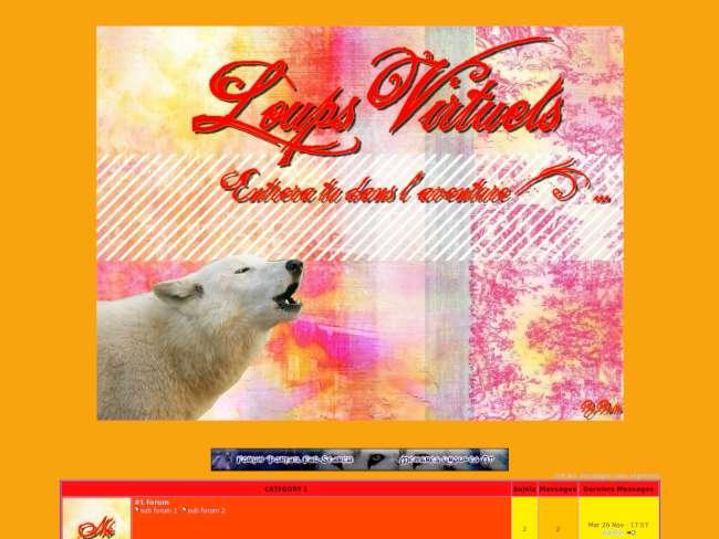 Loups orange-rouge