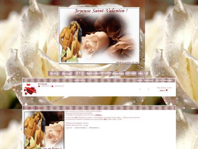 Tendresse saint valentin
