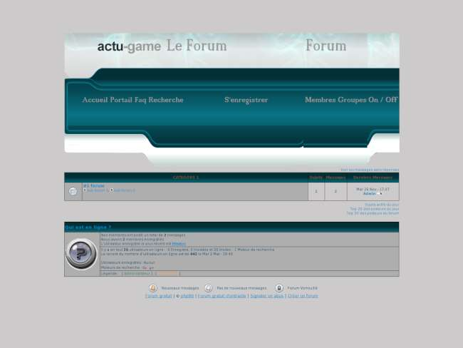 Forum actu -game