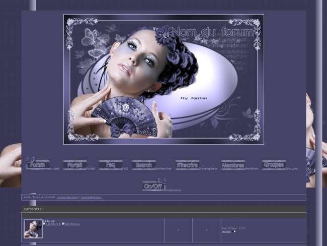 femme sensuelle violette version PunBB (punbb)