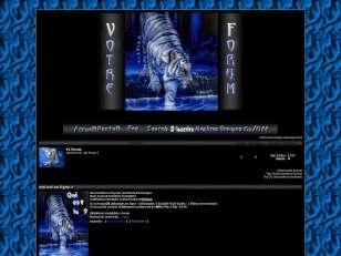 Tigre bleu !