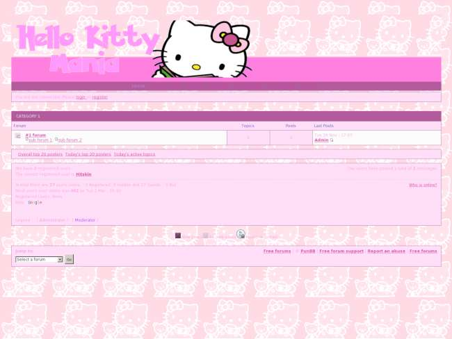 Hello Kitty pink and purple