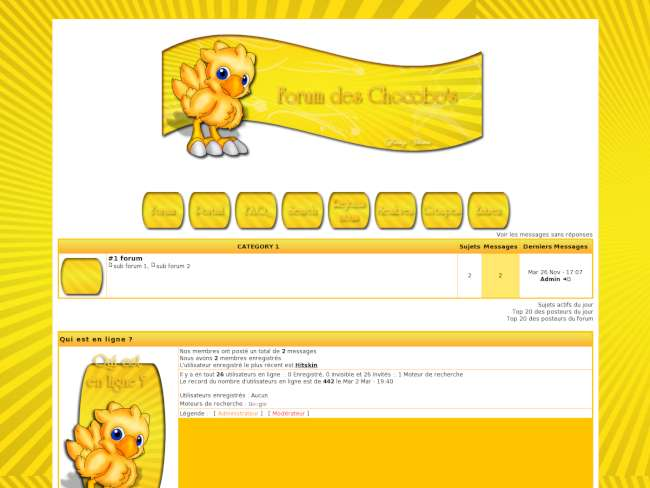 Forum des chocobo's