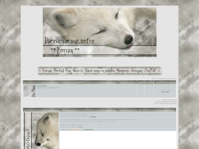 White wolf sleeping