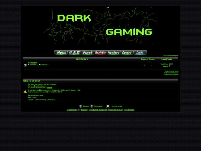 Dark gaming ace