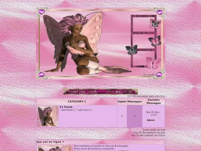 la fée papillon rose 2