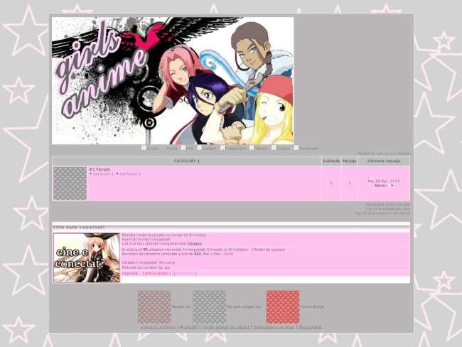 Anime girls grey and pink