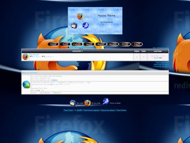 Mozilla Project Theme