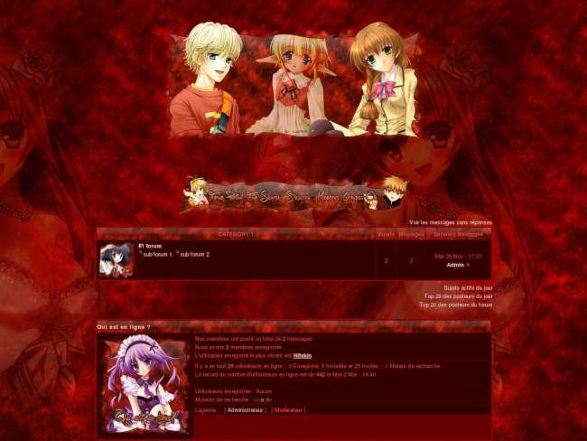 Thème manga rouge