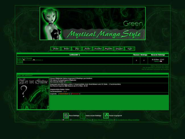 Mystical Manga Green