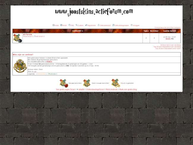 Harry potter layout red