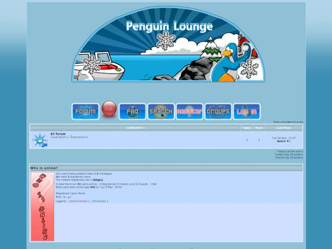 Penguin lounge skin