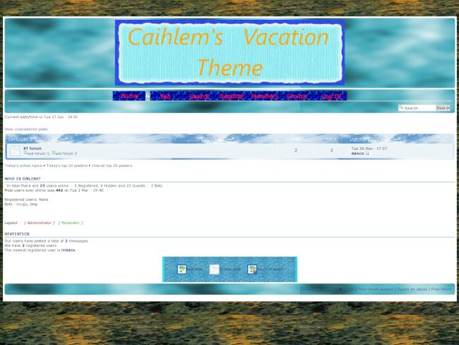 Caihlem's Vacation Theme