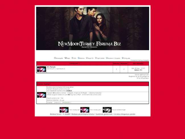 New moon fan tema (bur...