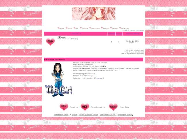 Cool pink and white theme