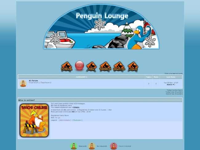 penguin lounge construction theme