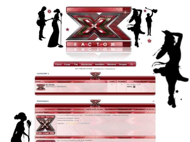"X-Factor -Invision ""Blanc"""