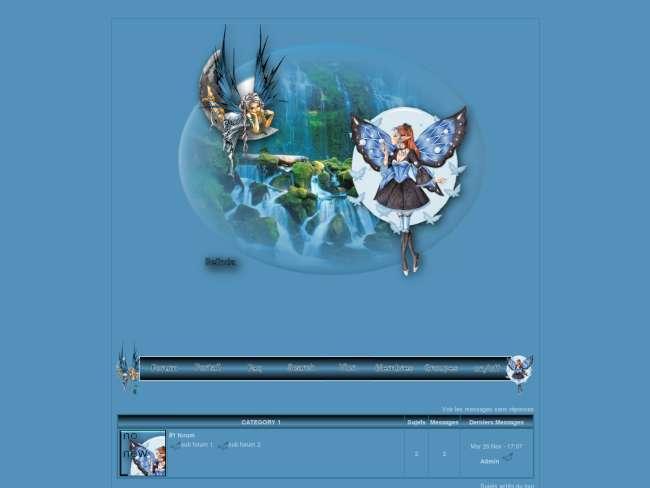 Les fées toutes en bleu