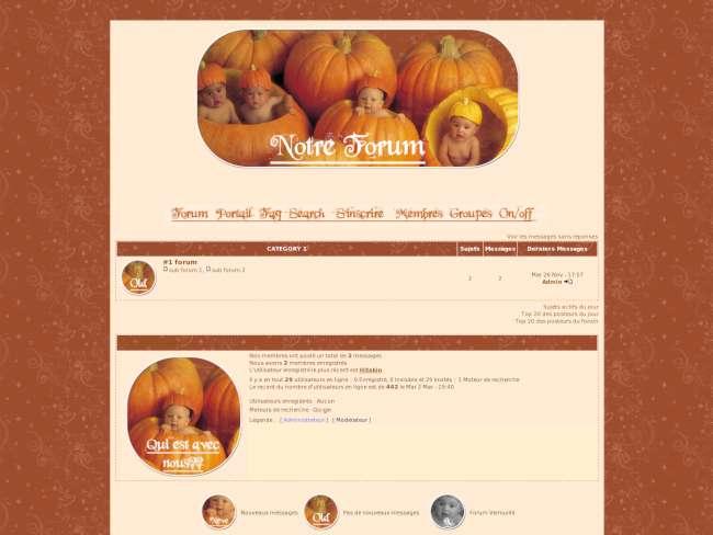 Bébés d'automne