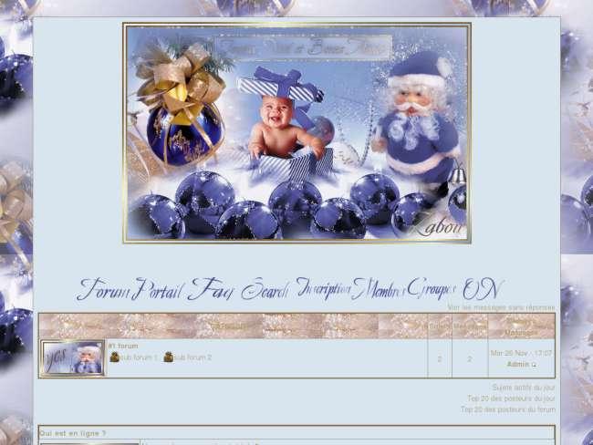 Noel bebe bleu