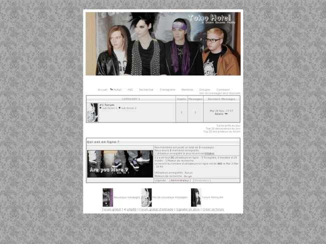 Tokio Hotel Thème
