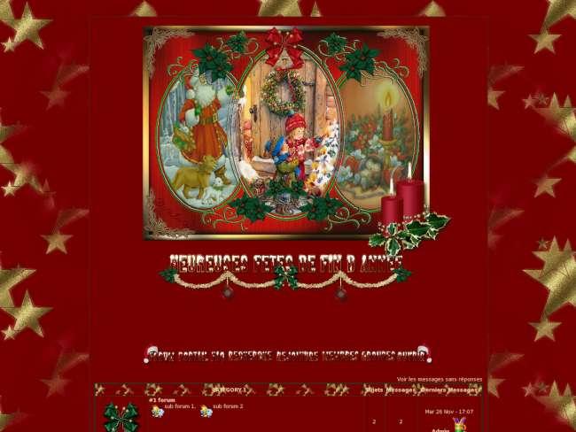 Joyeux Noel rouge/or