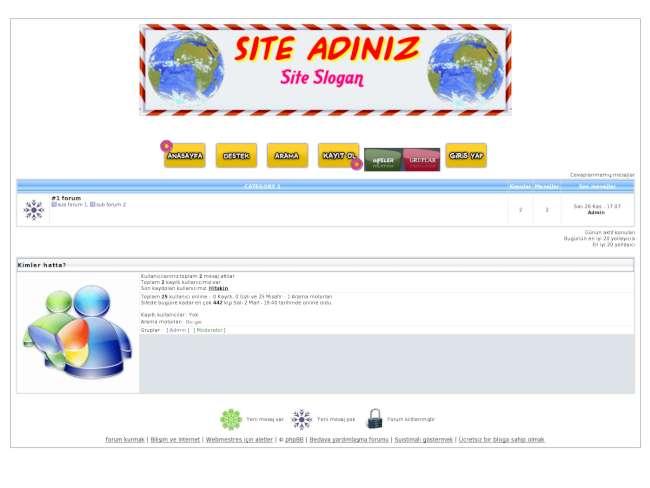 Mavi tema php2 versiyon