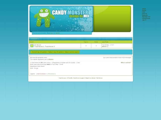 Candy Monster skin v1.0