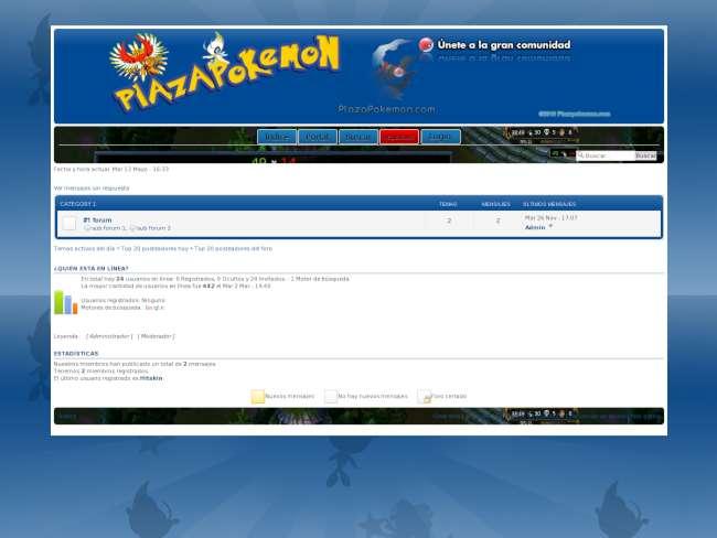 Plazapokemon.com Style - Azul Oscuro, Tema frio