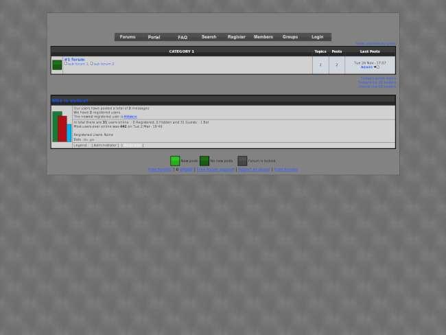 Sleek forum: grey and ...