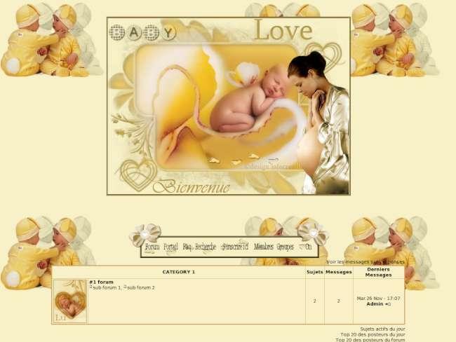 Bébé et femme enceinte