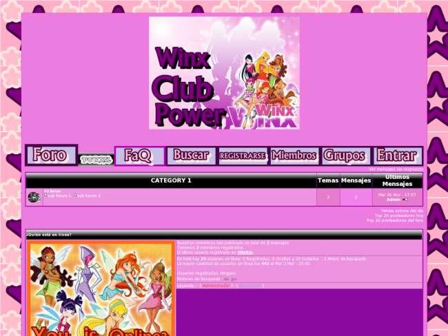 Winx club power