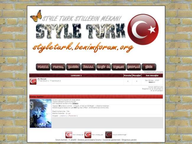 Style türk 1.0 phpbb 2...