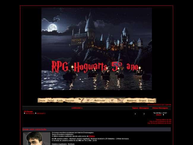 Rpg hogwarts 5ºano