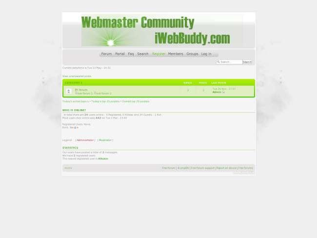 iWebBuddy.com Webmaster Theme