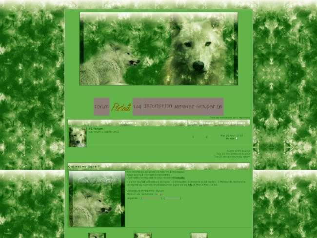 Loups vert