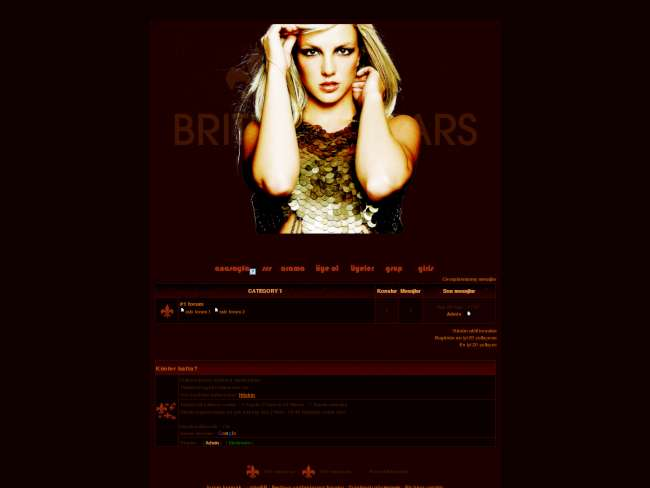 Britney tema bordo